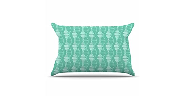 Kess InHouse Holly Helgeson Mod Waves Teal PatternFeatherweight Sham 30 X 20