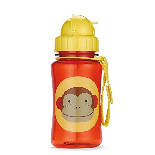 Skip Hop 252303 - Borraccia con cannuccia per bambini, motivo: Scimmietta