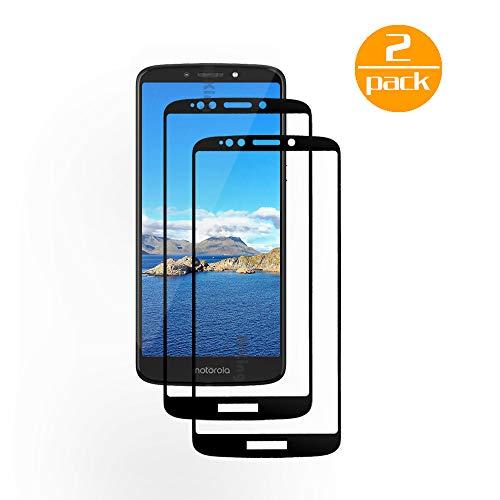 [2 Pack] Für Motorola Moto E5 Plus Panzerglas Schutzfolie (Schwarz), Displayschutzglas Panzerfolie für Motorola Moto E5 Plus Schutzglas Folie [Ultra-klar] [9H Härte] [Kristallklar] [Bubble Free]
