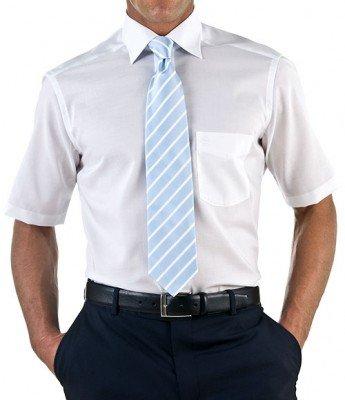 Herren Hemd Comfort Fit Kurzarm,  M (40), 40, Farbe: Weiß