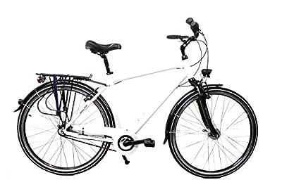 "28"" Zoll Alu Fahrrad Herren MIFA City Bike Shimano Nexus 7 Gang Nabendynamo weiß"