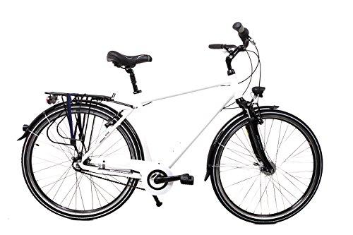 "28\"" Zoll Alu Fahrrad Herren MIFA City Bike Shimano Nexus 7 Gang Nabendynamo weiß"