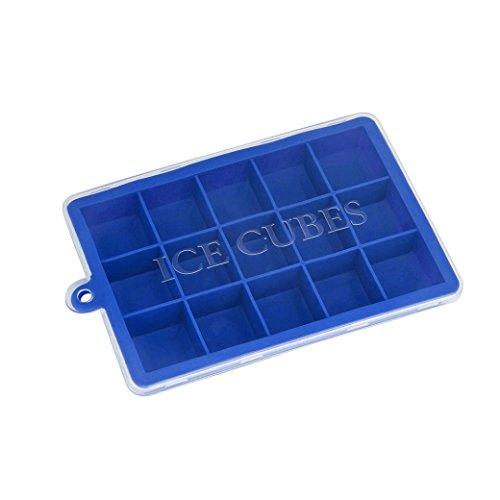 squarex 15quadratisch Ice Cube, Hot Silikon Freeze Form Bar Pudding Jelly Schokolade Maker Form, perfekt für japanischen Whiskey, Cocktail und jedes Getränk AS SHOW blau (Tiere Riesen-schildkröte)