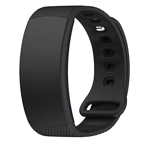 XingWangFa for Samsung Gear Fit 2 PRO/Fit2 Straps Cinturinos Soft Silicone Sport Cinturino Replacement Strap for Samsung Gear Fit 2 PRO/Fit2 SmartWatch-Black