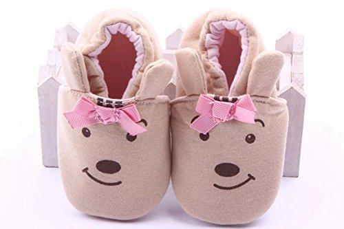 Goldore Baby Nummer 75 Bebe Schuhe Baby-Mädchen-Schuhe Säuglingskleinkind -weicher Baumwolle Elastic Heel Erste Wanderer Schuhe 0-18M B?r