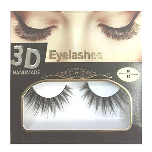 BELLA HARARO Black Handmade Natural 3D Thick Long False Eyelashes