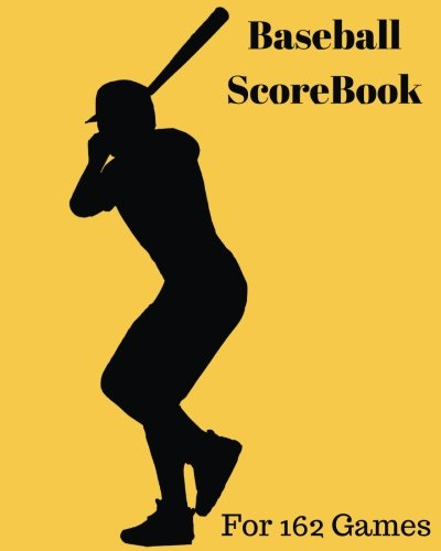 Baseball ScoreBook: 324 Pages for 162 Games, 8