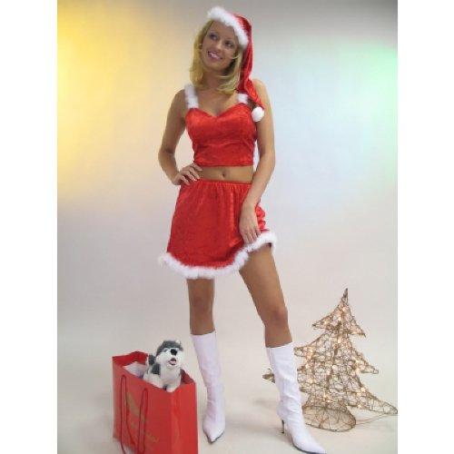 Sexy Weihnachtsfrau Kostüm 3-teilig Größe - Sexy 3 Teiliges Kostüm
