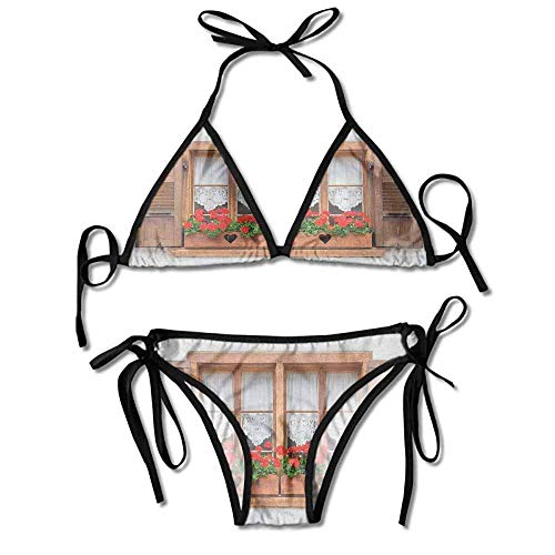 Bikini Swimsuit 2 Pieces Set,Windows with Shutters and Sexy Bikini 2 Pieces -