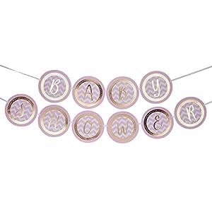 Neviti CSC Imports Juego de Obras-banderines-Baby Shower, Color Rosa