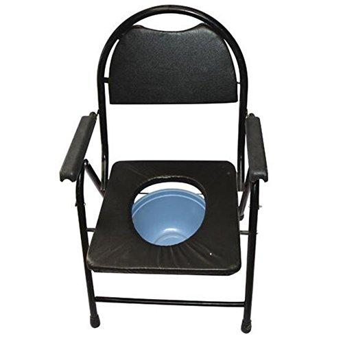 WYF Folding Commode Healthcare Einstellbar, Toilette Bad Stuhl Behinderung Mobility Aid Kommode Stuhl -