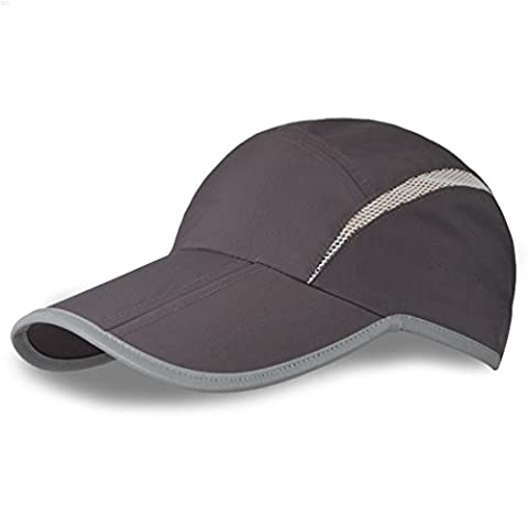 NYCOODNY Outdoor Riding Cap Quick Dry Sport Hat Lightweight Breathable Soft Folding Cap(Dark Grey)