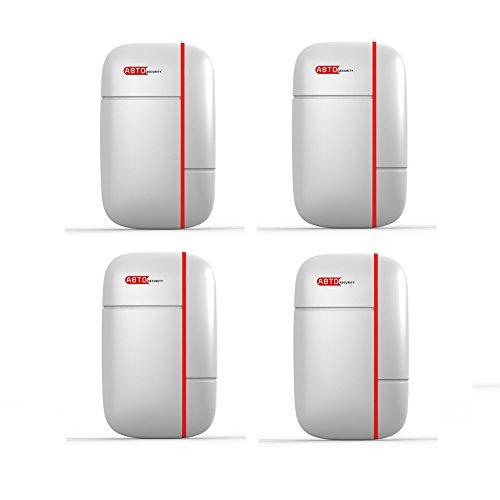 ABTO Home-Security-Lösung Funk-Tür- & Fenster-Sensor für Alarmanlage(4 Packungen) - Security-lösungen