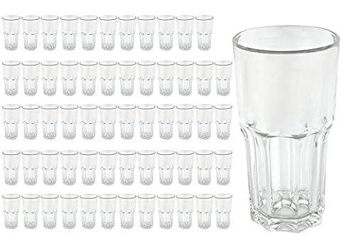 60 Longdrinkbecher GRANITY, 46 cl, Eichmarke bei 4 cl, Saftglas, Wasserglas, Trinkglas,Gastronomie