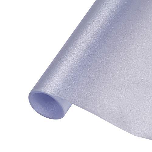 fancy-fix Fensterfolie Milchglasfolie Sichtschutzfolie Statische Folie Selbsthaftend (ohne Kleber) Dekorfolie 40x150cm