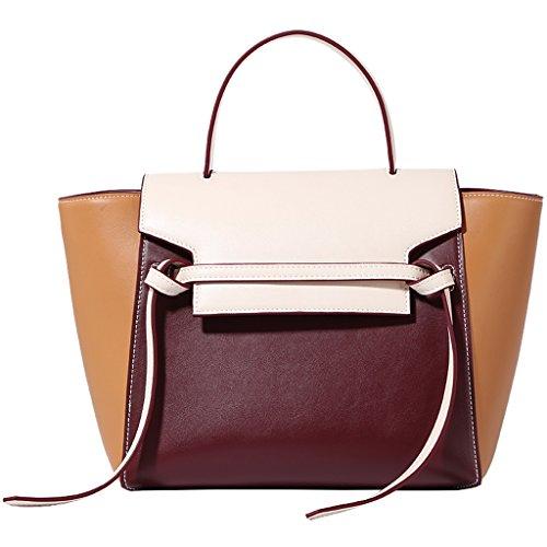 ZCJB Printemps Sacs Femelle Frappée Sauvage La Couleur Mode Portable Big Bag Épaule Messenger Bag Sac À Main
