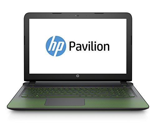 HP Pavilion 15-ak003ng 39,6 cm (15,6 Zoll Full HD) Notebook (Intel Core i7-6700HQ, 16GB RAM, 2 TB HDD, 128 GB SSD, Nvidia GeForce GTX 950M, Windows 10) schwarz/grün