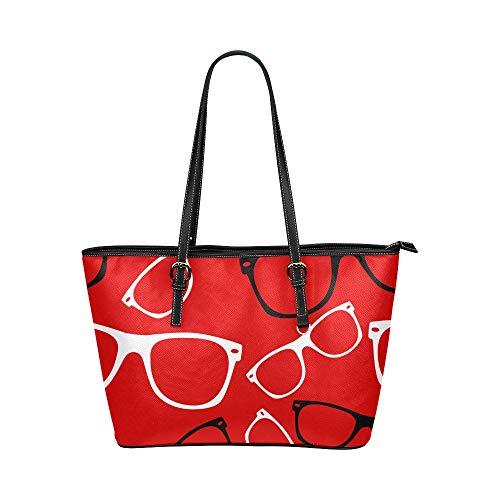 Plsdx Coole Mode Sonnenbrillen Große Leder Tragbare Top Griff Hand Totes Taschen Kausalen Handtaschen Reißverschluss Schulter Einkaufstasche Geldbörse Organizer Für Dame Mädchen Frauen