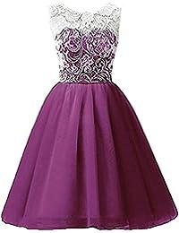Niñas Vestido de Encaje Princesa Sin Mangas Vestido Fiesta de Boda Bautizo