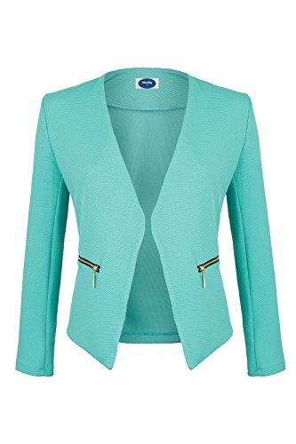 AO Blazer kragenlos mit Zipper mint Gr. L (Mint Blazer)