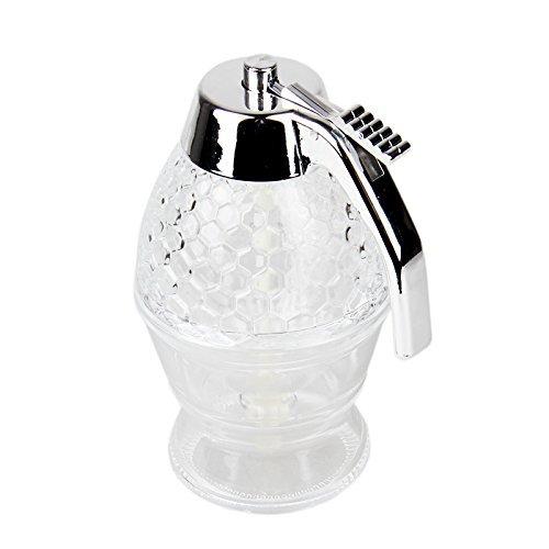 OFKPO Honig Spender,Tragbar Acryl Honig Jar Container Honig Spender(200ml)