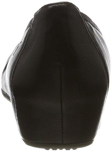 Tamaris Damen 22421 Geschlossene Ballerinas Schwarz (BLACK LEATHER 003)