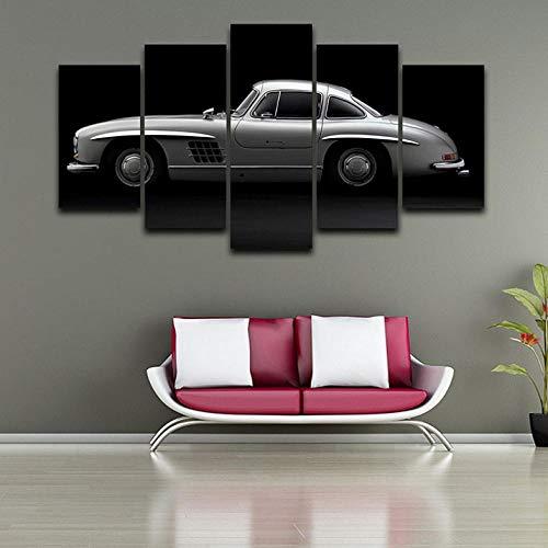 Jgophu Immagini modulari su Tela Wall Art Home Decor Pittura a Olio 5 PannelliPoster per Auto Sportiva per Soggiorno Cornice di Stampa HD 40x60X2 40x80X2 40x100 CM