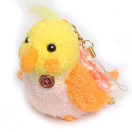 soft-and-downy-mini-bird-plush-type-ball-chain-carabiner-strap-yellow