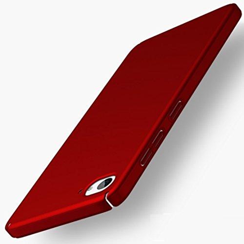 Apanphy ZUK Z2 Hülle , Hohe Qualität Ultra Slim Harte Seidig Und Shell Volle Schutz Hinten Haut Fühlen Schutzhülle für ZUK Z2, Rot