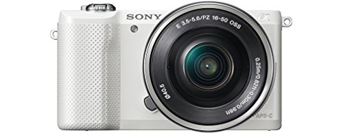 Best Price Sony ILCE5000L Compact System Camera with SEL-1650 Zoom Lens (20.1 MP, 180 Degrees Tiltable LCD, Wi-Fi and NFC ) – White on Line