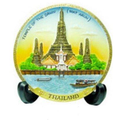 assiette-decorative-souvenir-de-londres-3d-arun-temple-thailande-thai-fait-main-artisanat