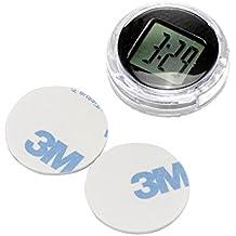 Sunsbell Reloj Moto Traje Universal Digital Relojes Impermeable Reloj Coche Adhesivo Monte Temperatura Despertador Reloj de