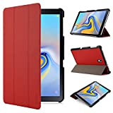 iHarbort Samsung Galaxy Tab A 10,5 Hülle Cover (2018 Version SM-T590 / T595) - Ultra dünn Hülle Etui Schutzhülle Holder Stand mit Smart Auto Wake/Sleep Funktion, rot