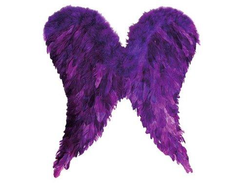 Kostüme Engel Teufel (Alsino Engelsflügel groß lila Vampir Engel Federn Flügel Teufel Karneval Fasching)