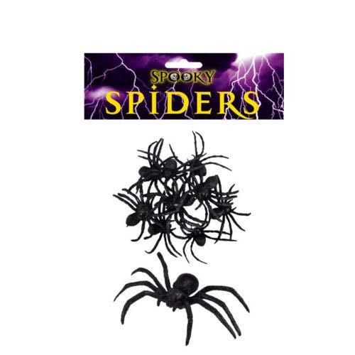 behör und Dekoration Horror-Aufkleber zum Aufhängen, Flaggen Halloween Scary Spiders Pack of 9 ()