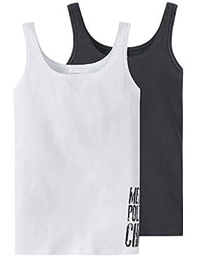 Schiesser Mädchen Unterhemd, 2er Pack