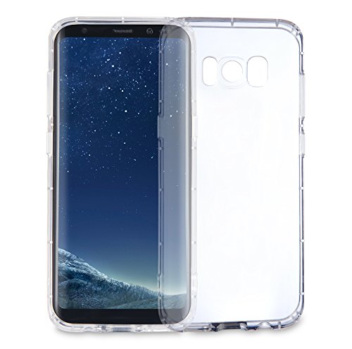 MyGadget Hülle TPU Case [Bumper Schutz] für Samsung Galaxy S8 (2017) - Crystal Clear & Stoßfest Schutzhülle - Silikon Back Cover Handyhülle Transparent Crystal Clear Hard Case