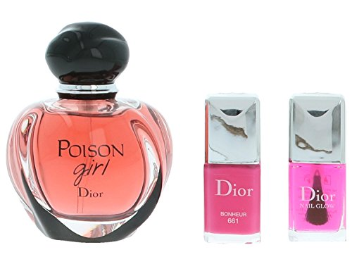 Le Vernis Nail (Christian Dior Poison Girl giftset, Eau de Parfum spray, Vernis, nail glow, 1er Pack (1 x 64 g))