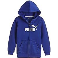 Puma Jungen Jacke ESS Large Logo Hooded Sweat Jacket, Fleece, B, 831929 31