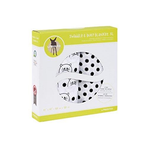 Preisvergleich Produktbild Lässig 1312006108 Lässig Puckdecke / Spuckdecke 100% Baumwolle Mulltuch weich kuschelig- Little Chums 120 x 120 cm,  Katze,  Mehrfarbig