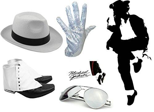 King Of Pop Michael Jackson Unisex Costume Accessories Set