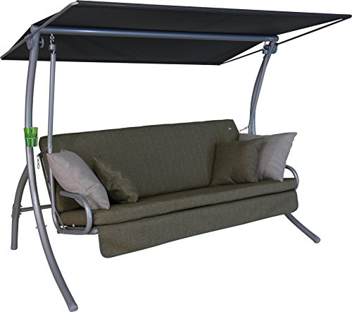 Angerer Drift Smart Hollywoodschaukel 3-Sitzer Design, oliv grün, 210 x 145 x 160 cm, 411