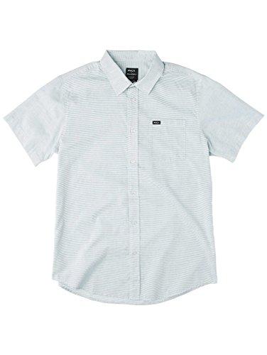 Herren Hemd kurz RVCA Curren Stripe Hemd Antique White