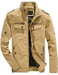Hommes Manteau d hiver Veste Chaude Outwear Manteau à Glissière Homme  Blouson en Coton Militaire a63b2db558bd