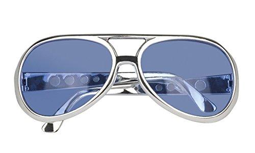 Preisvergleich Produktbild erdbeerloft - Elvis Brille Kostüm Sonnebrille Rock´n Roll, Blau