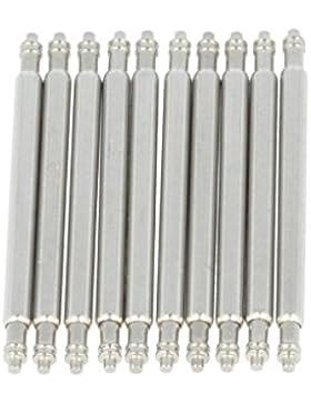PUREgrey 10 x Federsteg 20mm x 1,5 Durchmesser Edelstahl