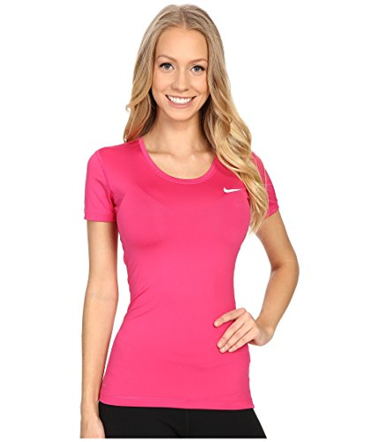 Nike Damen Oberbekleidung Pro Cool Shortsleeve Top, 725745, Rosa, Gr. Medium
