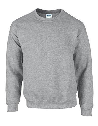Gildan Heavy Blend Pullover mit Rundausschnitt (2XL) (Grau) XXL,Grau
