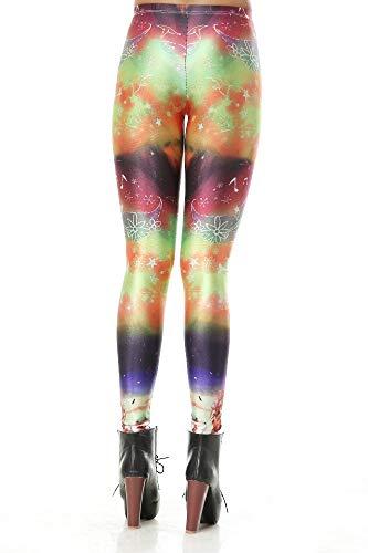 KUDALL Strumpfhosen Leggings Fitness Yoga Hosen Sport Stretch Dünne Leggings Mode Kreative Starry Dream Digital Taille Hüften Hüften Hosen, - Digital Dreams Kostüm