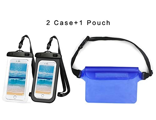 2 Pack cellulari Custodia + 1 Pack Borsa Impermeabile Custodia Impermeabile con Cintura...